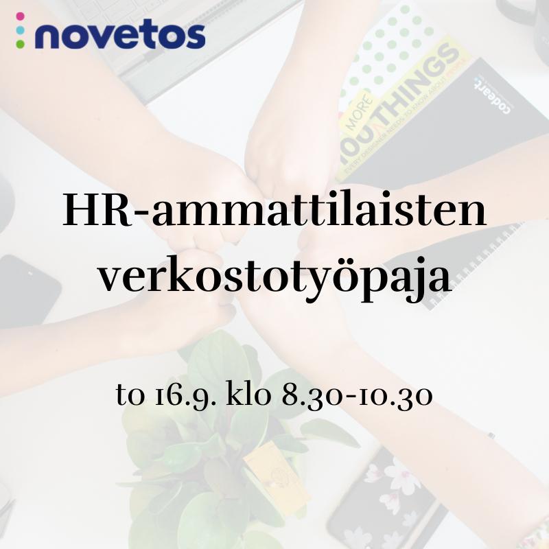 Ilmoittaudu ilmaiseen HR-ammattilaisten verkostotyöpajaan!