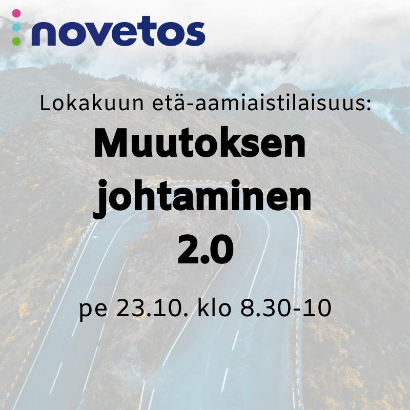 Etä-aamiaistilaisuus: Muutoksen johtaminen 2.0, pe 23.10. klo 8.30-10